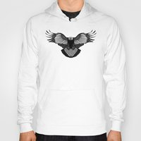 eagle Hoodies featuring Eagle by Schwebewesen • Romina Lutz