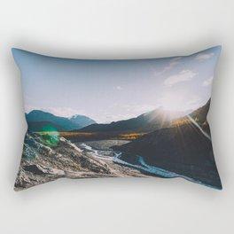 Glacial Meltwater Sunrise - Kenai Fjords National Park Rectangular Pillow