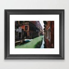 Sunny canal Framed Art Print
