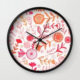 Jane's Garden: Autumn Wall Clock