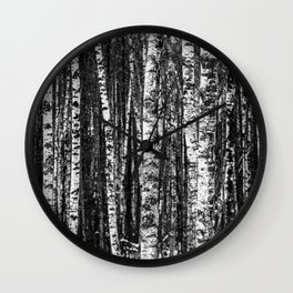 Forest in B&W Wall Clock