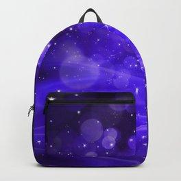 Whimsical Purple Glowing Christmas Sparkles Bokeh Festive Holiday Art Backpack