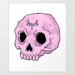 Witchy Skull Art Print