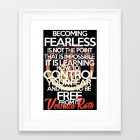 divergent Framed Art Prints featuring Divergent  by The Book Addiction