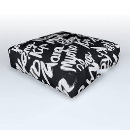 Nam Myoho Renge Kyo - Light on Dark Outdoor Floor Cushion
