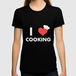 I Love Cooking T-shirt Chef's Hat Cook Baking Food Lovers T-shirt