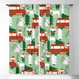 Christmas drive Blackout Curtain