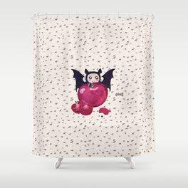 Vegan Vampire Shower Curtain