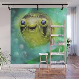Friendly little pufferfish Wall Mural