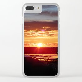 Ground Level Sunset Clear iPhone Case