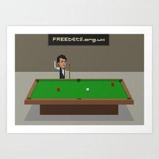 Snooker Art Print