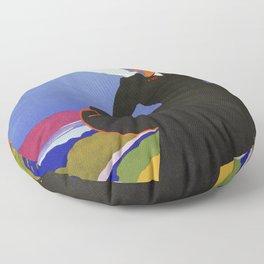 Abruzzo Italian travel Lady on a walk Floor Pillow
