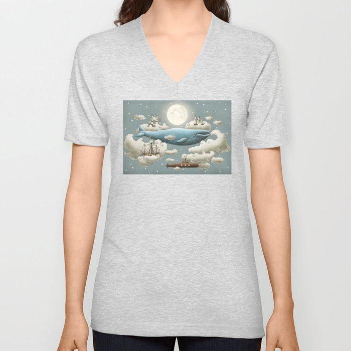 Ocean Meets Sky Unisex V-Ausschnitt
