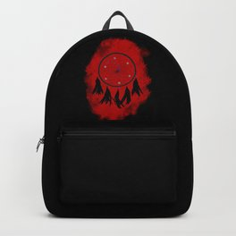 Dreamcatcher crow: Red background Backpack