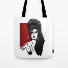 Ink Portrait of winehouse Tote Bag