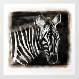Zachary the zebra Art Print