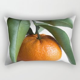 Orange Fruit Photography | Good Luck | Success | Clementine | Leaves | Tropical Summer Happiness Rectangular Pillow