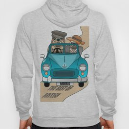 The  Best of British - English Bulldogs in a Morris Minor Hoody