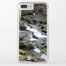 Trickles in the Woods Clear iPhone Case