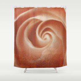 Pink Swirl - Living Coral - JUSTART (c) Shower Curtain