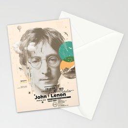 john lenon-imagine Stationery Cards