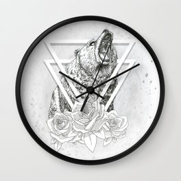 Fur and Flowers Wall Clock