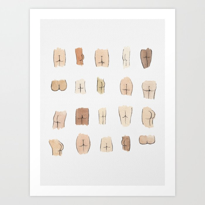 Butts Art Print