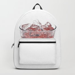 Glass with Ice and Red Liquor Backpack