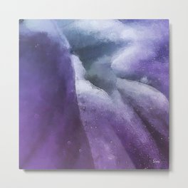Inside the Purple Flower Universe Metal Print