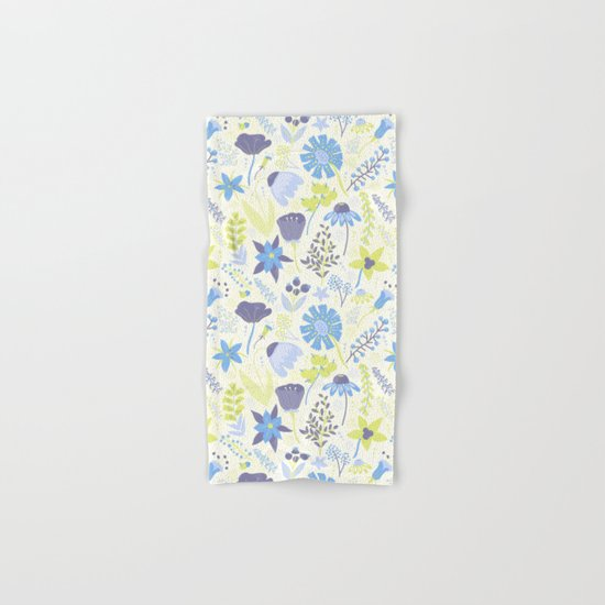 Blue and Purple Wildflowers Hand & Bath Towel