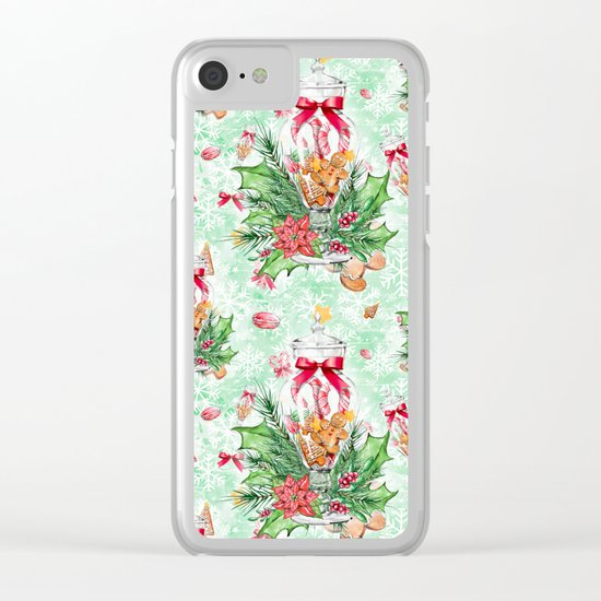 Christmas gingerbread candy cane #2 Clear iPhone Case