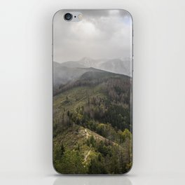 Mountains scenery from the peak iPhone Skin