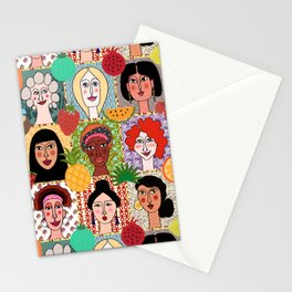 the colors of women Stationery Cards