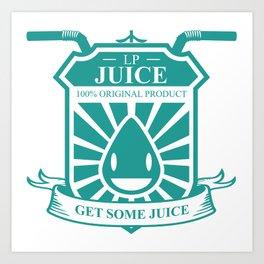 Juice Badge Art Print