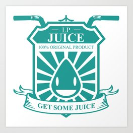 Juice Badge Art Print