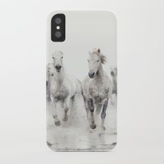 Ghost Riders - Horse Art iPhone X Slim Case