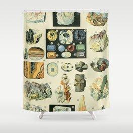 Vintage Minerals Chart Shower Curtain