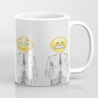 suit Mugs featuring Suit & Tie  by BTP Designs