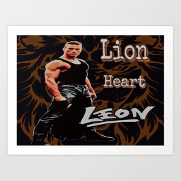 Leon The Lion Heart Art Print