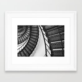 Hunting Lighthouse Stairs 1 Framed Art Print