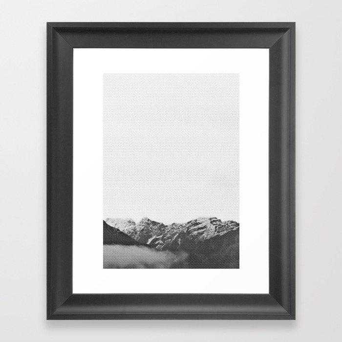 Mountains Print Gerahmter Kunstdruck