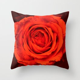 Vintage Rose,red Throw Pillow
