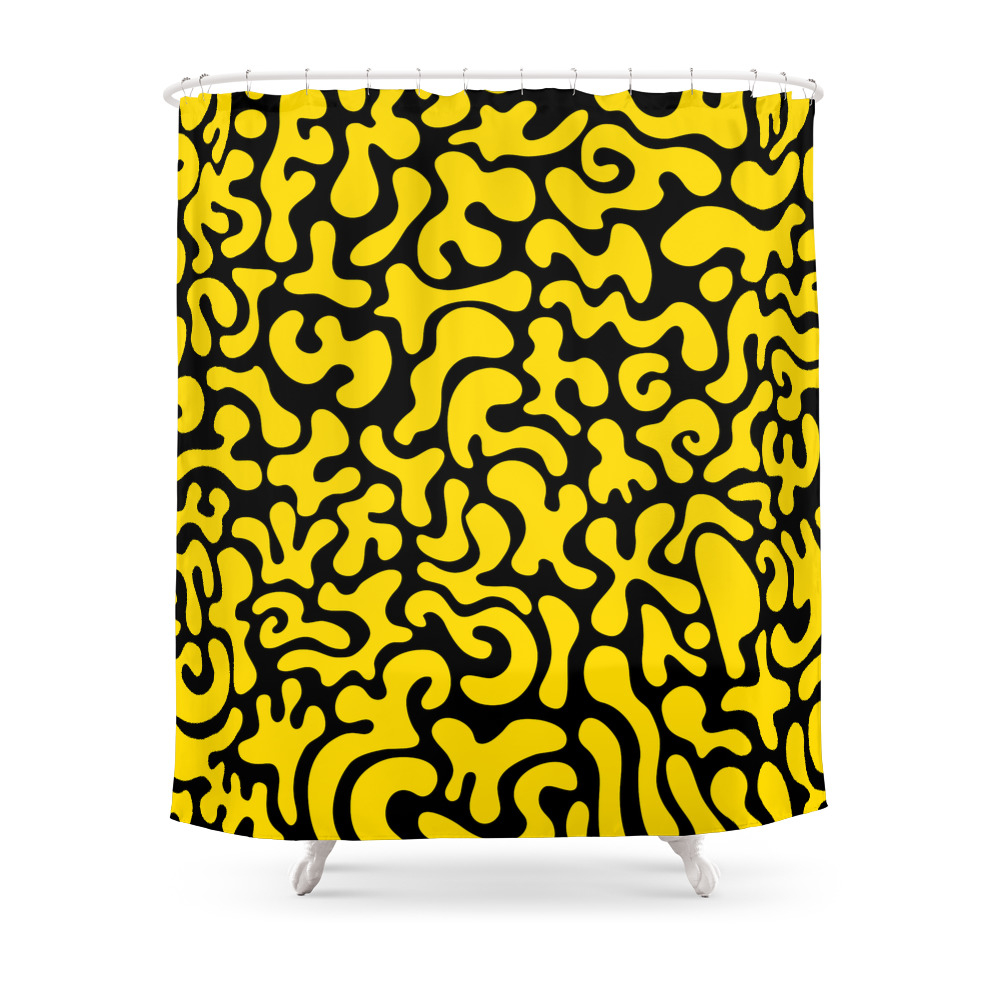 Social Networking Yellow Shower Curtain by xpayneart