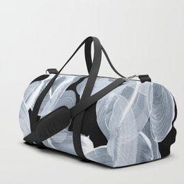 Ghostly Smoke Organic Brush Strokes Black Background Magical Ghostly Pattern Duffle Bag