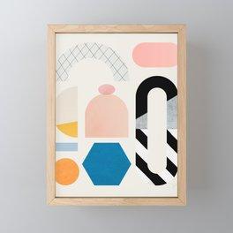 Abstraction_Shapes Framed Mini Art Print