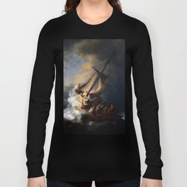 The Storm on the Sea of Galilee-Rembrandt Long Sleeve T-shirt