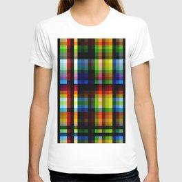 Colorful Rainbow Grid Naga T-shirt