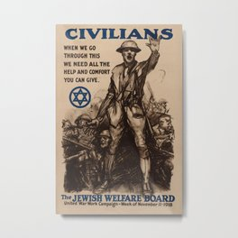 Vintage poster - National Jewish Welfare Board Metal Print