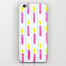 Pink and Lemon Stripes  iPhone & iPod Skin