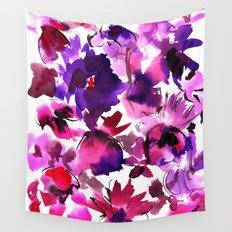 Sara Floral Pink Wall Tapestry